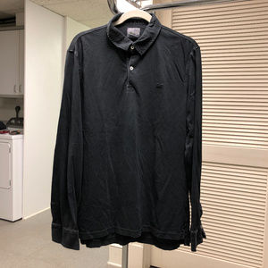 Lacoste Vintage Washed Long Sleeved Polo Shirt